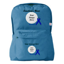 Blue Standard Ribbon Template Backpack