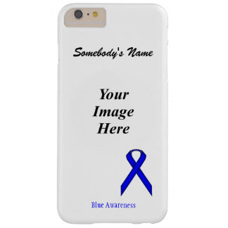 Blue Standard Ribbon Template Barely There iPhone 6 Plus Case