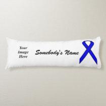 Blue Standard Ribbon Template Body Pillow