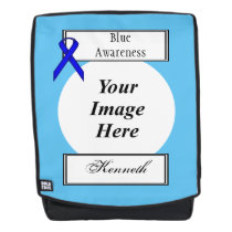 Blue Standard Ribbon Template by Kenneth Yoncich Backpack