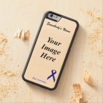 Blue Standard Ribbon Template by Kenneth Yoncich Carved Maple iPhone 6 Bumper Case