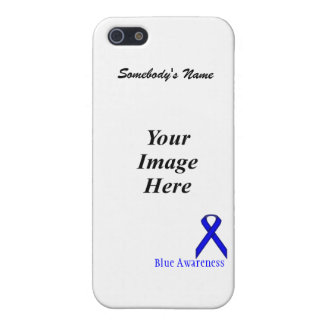 Blue Standard Ribbon Template by Kenneth Yoncich iPhone SE/5/5s Case