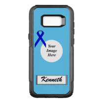 Blue Standard Ribbon Template by Kenneth Yoncich OtterBox Commuter Samsung Galaxy S8  Case