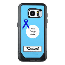 Blue Standard Ribbon Template by Kenneth Yoncich OtterBox Samsung Galaxy S7 Edge Case