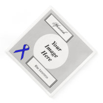 Blue Standard Ribbon Template by Kenneth Yoncich Paper Dinner Napkin