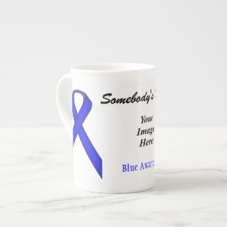 Blue Standard Ribbon Template by Kenneth Yoncich Tea Cup