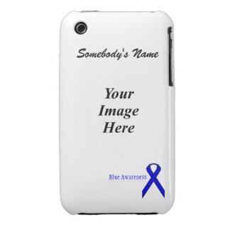 Blue Standard Ribbon Template Case-Mate iPhone 3 Case