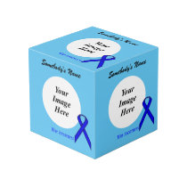 Blue Standard Ribbon Template Cube