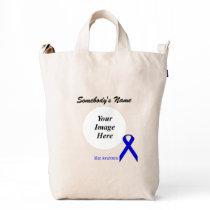 Blue Standard Ribbon Template Duck Bag