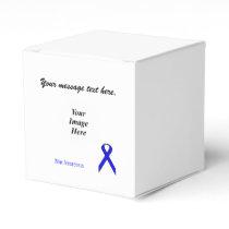 Blue Standard Ribbon Template Favor Box