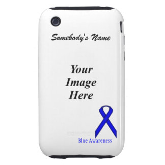Blue Standard Ribbon Template iPhone 3 Tough Cases
