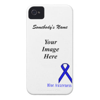Blue Standard Ribbon Template iPhone 4 Case-Mate Cases