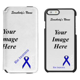 Blue Standard Ribbon Template iPhone 6/6s Wallet Case