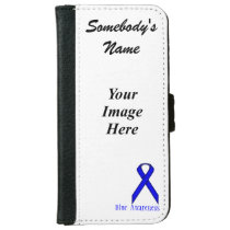 Blue Standard Ribbon Template Wallet Phone Case For iPhone 6/6s