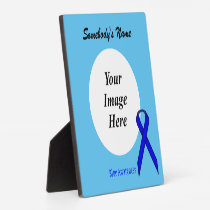 Blue Standard Ribbon Template Plaque