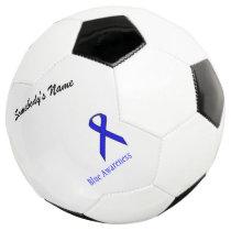 Blue Standard Ribbon Template Soccer Ball