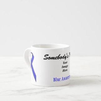 Blue Standard Ribbon Template Espresso Cup
