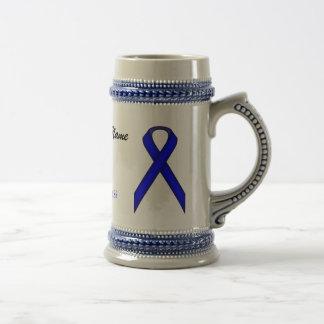 Blue Standard Ribbon Template Stein 18 Oz Beer Stein
