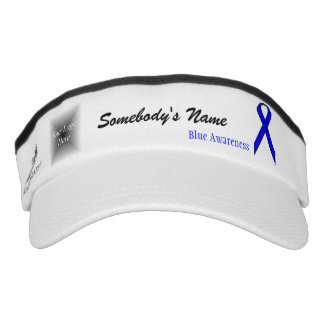 Blue Standard Ribbon Template Visor