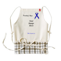 Blue Standard Ribbon Template Zazzle HEART Apron