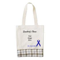 Blue Standard Ribbon Template Zazzle HEART Tote Bag