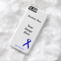 Blue Standard Ribbon Tmpl by Kenneth Yoncich Barely There iPhone 6 Case