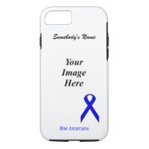 Blue Standard Ribbon Tmpl by Kenneth Yoncich iPhone 8/7 Case