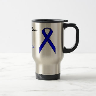 Blue Standard Ribbon Tmpl by Kenneth Yoncich Travel Mug
