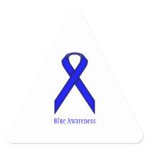 Blue Standard Ribbon Triangle Sticker