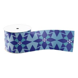 "Blue Star 1.5"" Wide Satin Ribbon, 2 Yard Spool Grosgrain Ribbon"