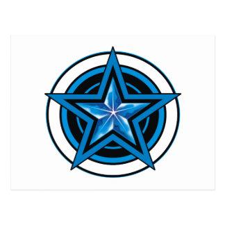 blue star 1 postcard