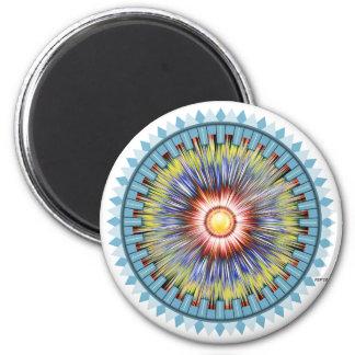 Blue Star 2 Inch Round Magnet