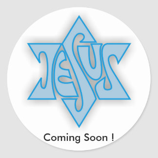 Blue star(3), Coming Soon ! Classic Round Sticker
