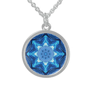 Blue Star Abstract Necklace