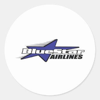 Blue Star Airlines Classic Round Sticker