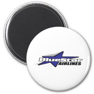 Blue Star Airlines 2 Inch Round Magnet
