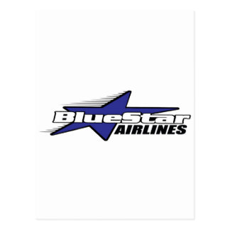 Blue Star Airlines Postcard