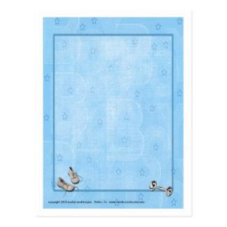 Blue Star Baby Postcard