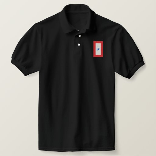 Blue Star Banner( Serving Active Duty) Embroidered Polo Shirt