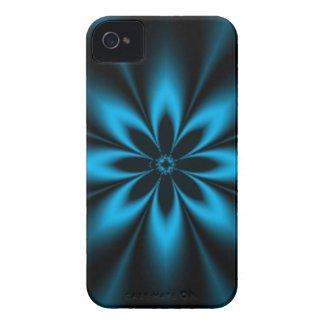 Blue Star Burst Fractal iPhone 4 Cover