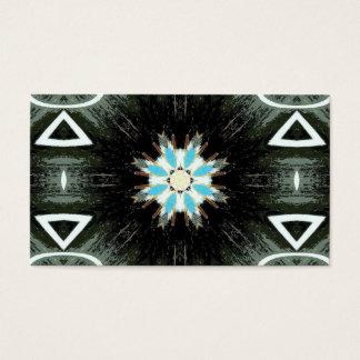 blue star-burst geometric business card