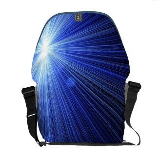 Blue Star Burst Messenger Bag