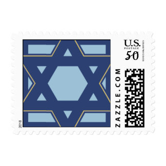 Blue Star Burst Postage