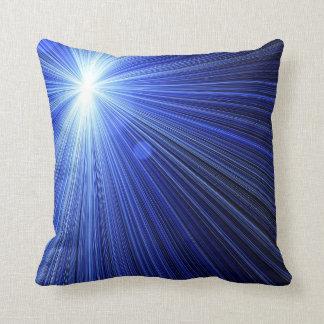 Blue Star Burst Throw Pillow