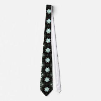 blue star bursts black neck tie