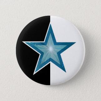Blue Star button black white
