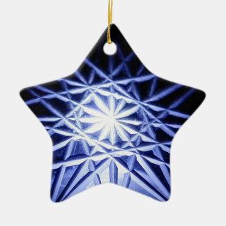 Blue star ceramic ornament