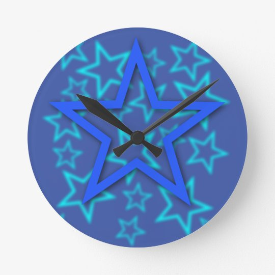 Blue Star Clock