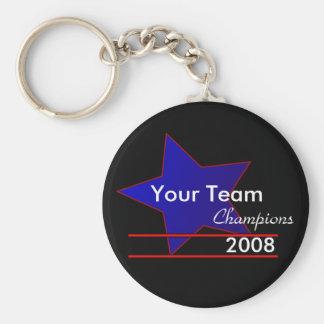 Blue Star Custom Team Champions Keychain