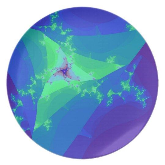 Blue Star Dancer Melamine Plate